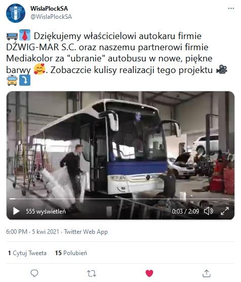 Wisła Płock autokar